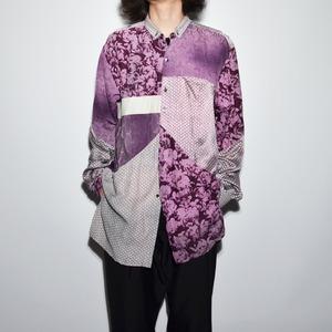 "Crazy Pattern ""NIPPON SILK"" Shirt Coat 〈I〉"