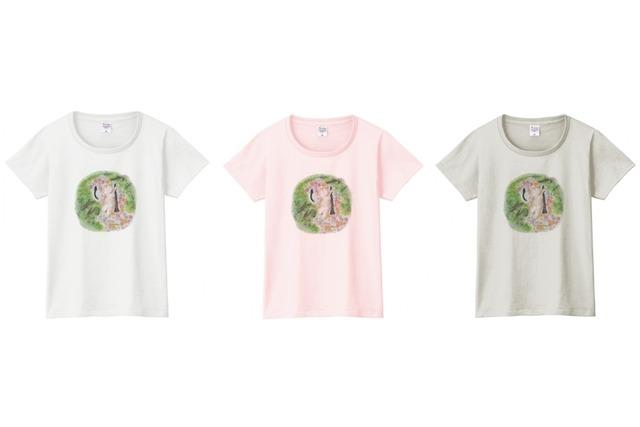 クラリネットと猫のTシャツ(ウナギ)