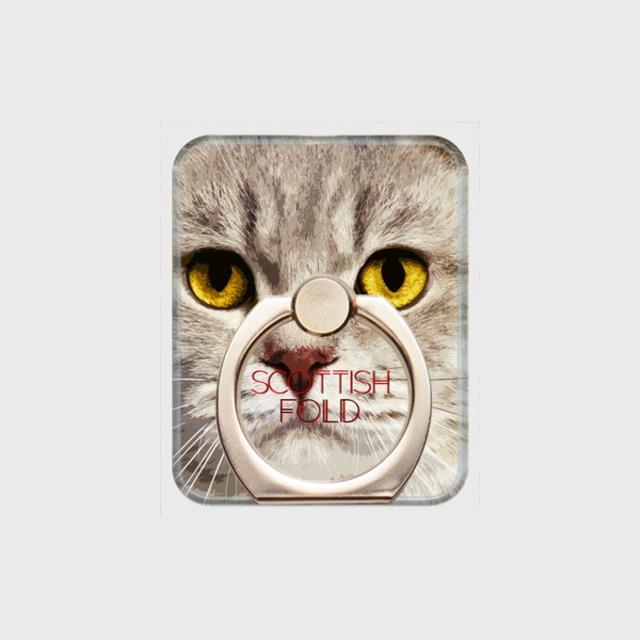 スコティッシュフォールド おしゃれな猫スマホリング【IMPACT -color- 】