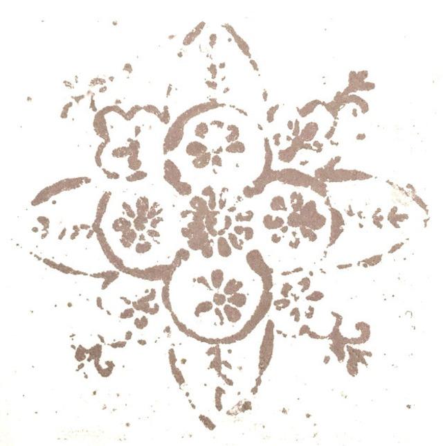 北欧【Ib Laursen】バラ売り1枚 ランチサイズ ペーパーナプキン ROSETTE PATTERN ミルキーブラウン