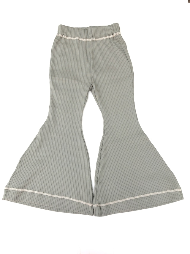【21AW】GRIS ( グリ )Rib Flared Pants[S/M/L]SageGreen パンツ リブ フレア