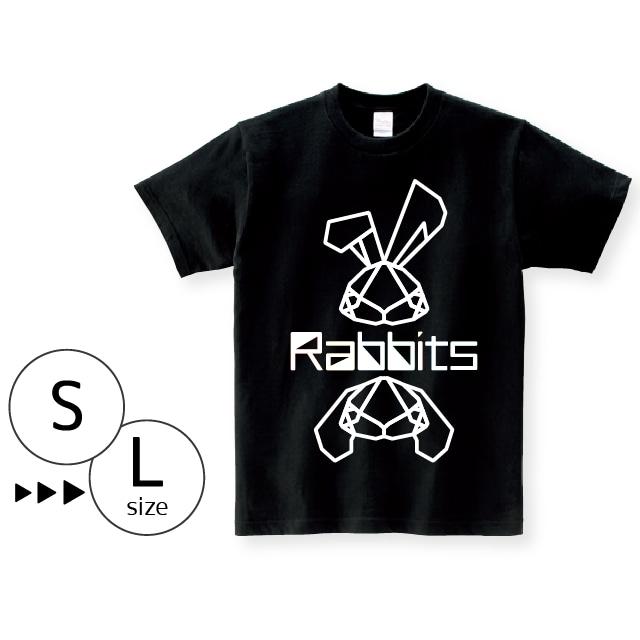 Tシャツ:パキパキラビッツ ライン〈ブラック〉