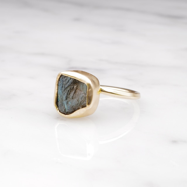 ROUGH STONE RING GOLD 002
