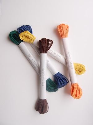 5本セット #16~#20 オーガニックコットン  刺繍糸