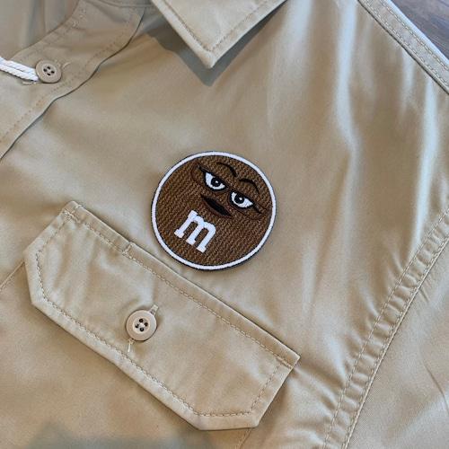 PATCHIES 【ワッペン】 M&M's エムアンドエムズ ブラウン ワークシャツ