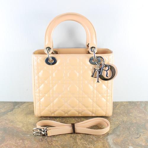.Christian Dior LADY DIOR LEATHER 2WAY SHOULDER BAG MADE IN ITALY/クリスチャンディオールレディディオールカナージュレザー2wayショルダーバッグ2000000052588