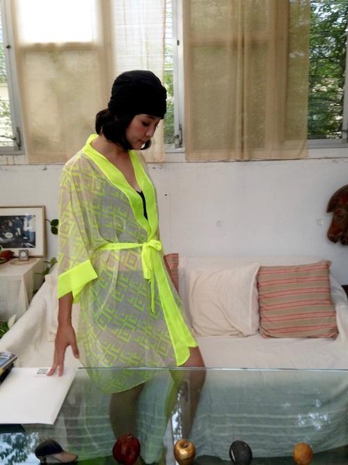 Medium Robe Mosaic Neon ミディアムローブモザイクネオン