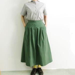 YARRA (ヤラ) YR-202-098 フロントタック コットンひざ下スカート