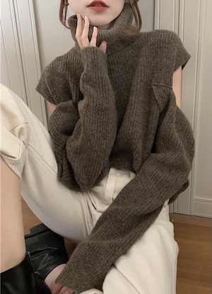il - shoulder open knit