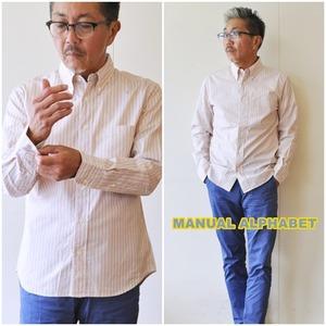 manualalphabet  マニュアルアルファベット シャツ BASIC ST-010 メンズ 長袖シャツ ボタンダウンシャツ