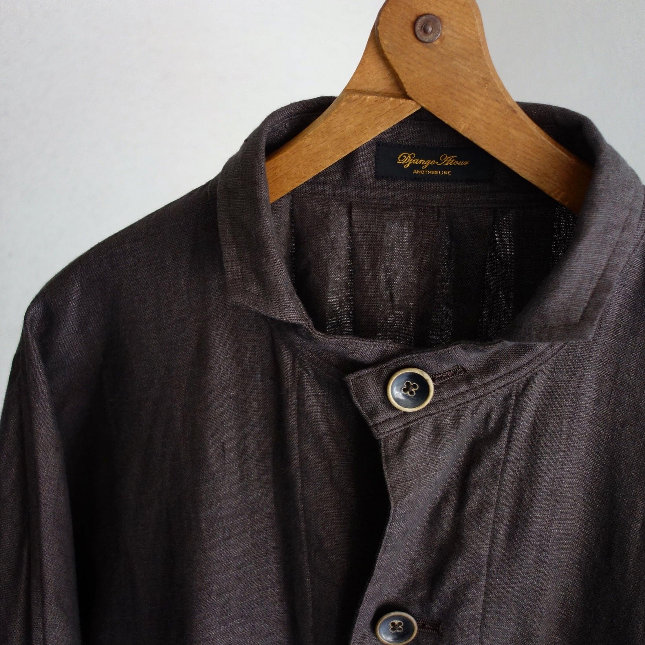 classic farmers heavylinen coat / antique charcoal