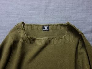 cotton-linen knit longsleeve / olive