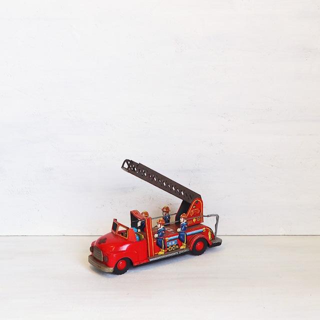 【R-383】マルサン製 ブリキ消防はしご車