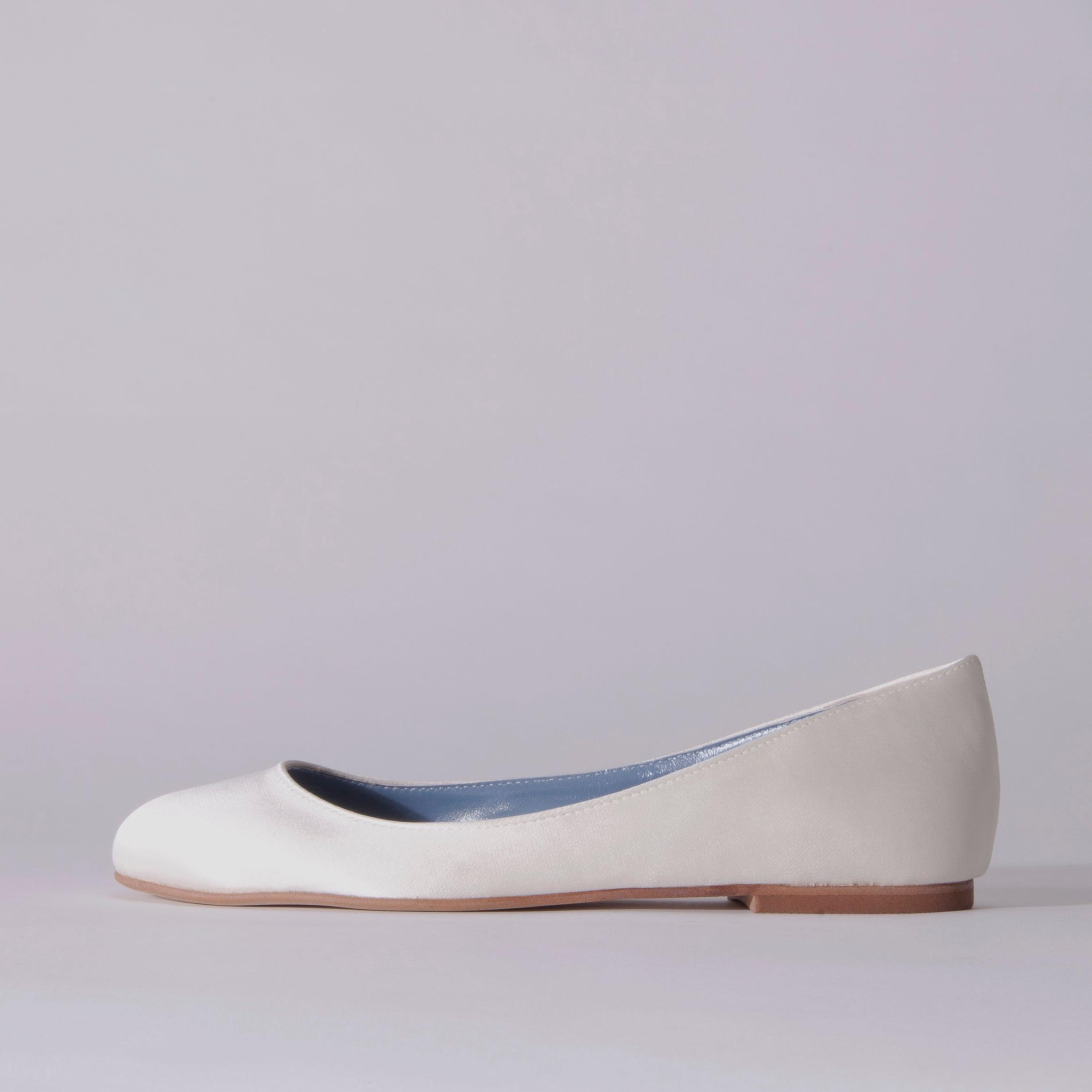 Satin / Close Toe / 1cm / WH 【3011 WH】