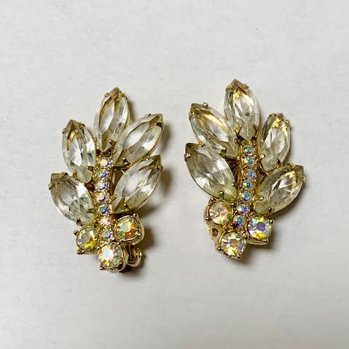 Vintage Beautiful Clear Bijoux Earrings