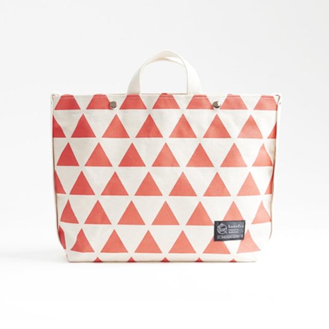 shoulder tote bag/vermilion × scale ショルダートート/ 朱 x 鱗
