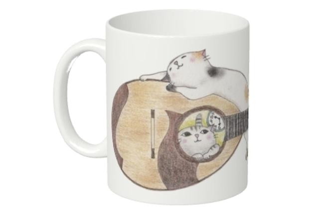 マンドリン猫のマグカップ