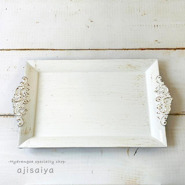 シャビーシックなディスプレイプレート レクト(長方形) 2色