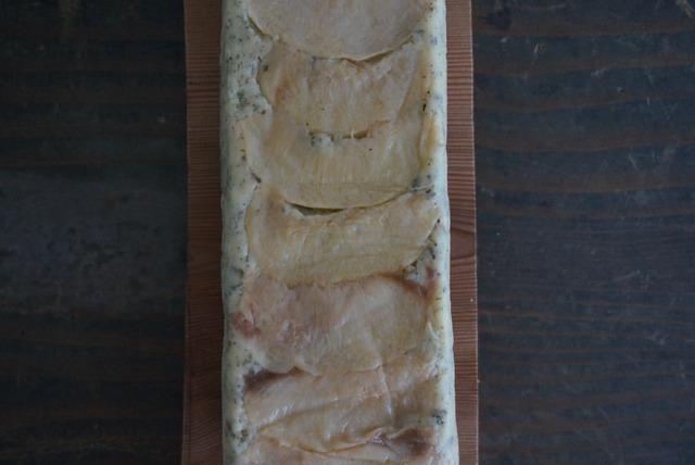 ジャスミンバニラと白桃のパウンドケーキ