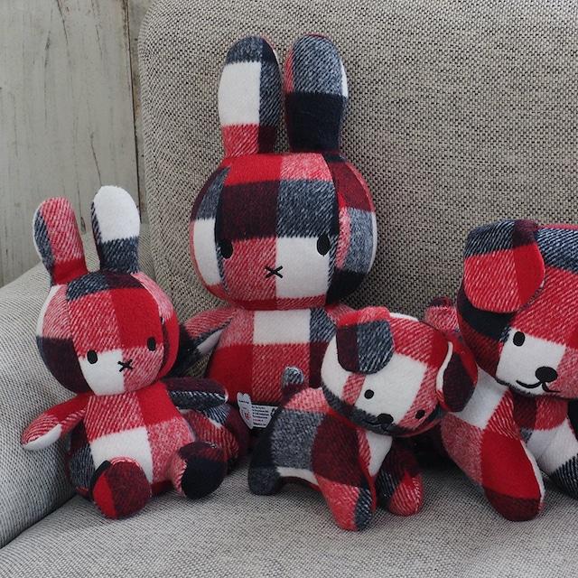 【BON TON TOYS】Miffy Check 23cm red/blue  【10/25発売】
