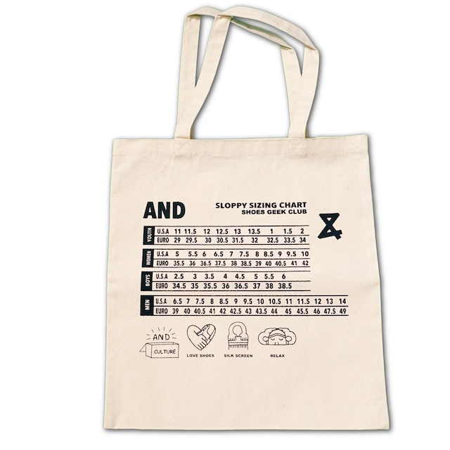 SIZE CHART Tote bag