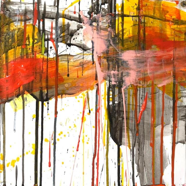 絵画 絵 ピクチャー 縁起画 モダン シェアハウス アートパネル アート art 14cm×14cm 一人暮らし 送料無料 インテリア 雑貨 壁掛け 置物 おしゃれ抽象画 現代アート ロココロ 画家 : tamajapan 作品 : t-26  /  tamajapan