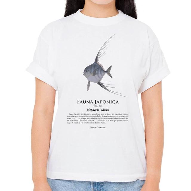 【イトヒキアジ】シーボルトコレクション魚譜Tシャツ(高解像・昇華プリント)
