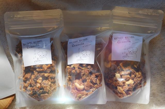 【グルテンフリー】米粉のKOMEKOMEグラノーラ3袋セット