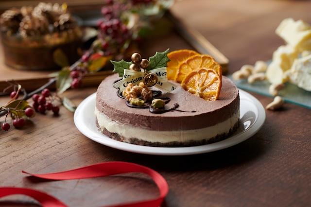 ★通販ショップ移転★【12cm】ヴィーガンオレンジ&チョコレートケーキ《卵・乳製品・小麦不使用 冷凍》