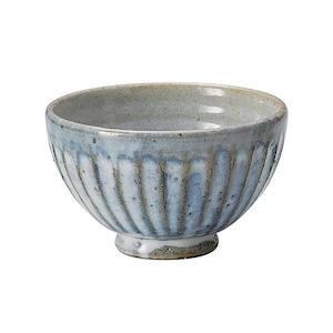信楽焼 へちもん 飯碗 茶碗 約12cm 青萩彫 MR-3-3490