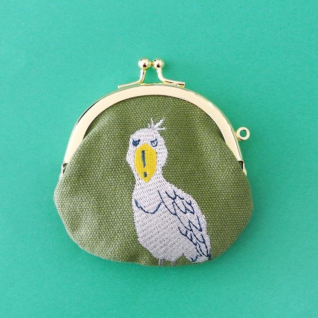 《鳥/ハシビロコウ》ハシビロコウ がまぐちポーチ 小銭入れ