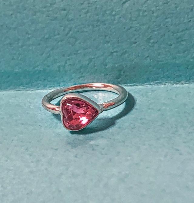 Heart Vintage Stone Ring silver925 #LJ20019R