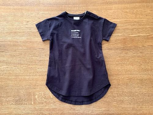半そでTシャツワンピース・黒 80cm