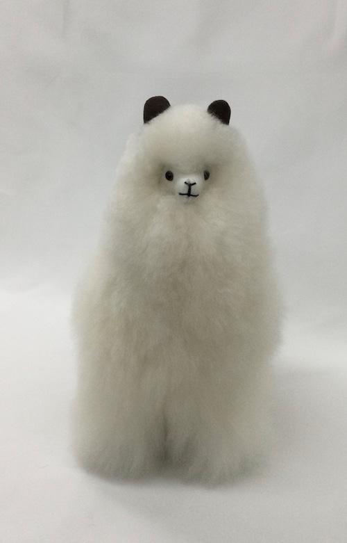 アルパカ純毛人形 白 32cm