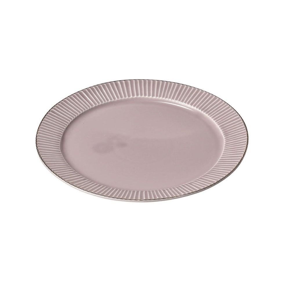 aito製作所 「ティント Tint」プレート 皿 L 約24cm パープル 美濃焼 289004