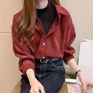 1枚で韓国風重ね着ファッション♡フェイクツーピースシャツ