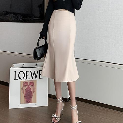 ハイウエストマーメイドスカート U6011