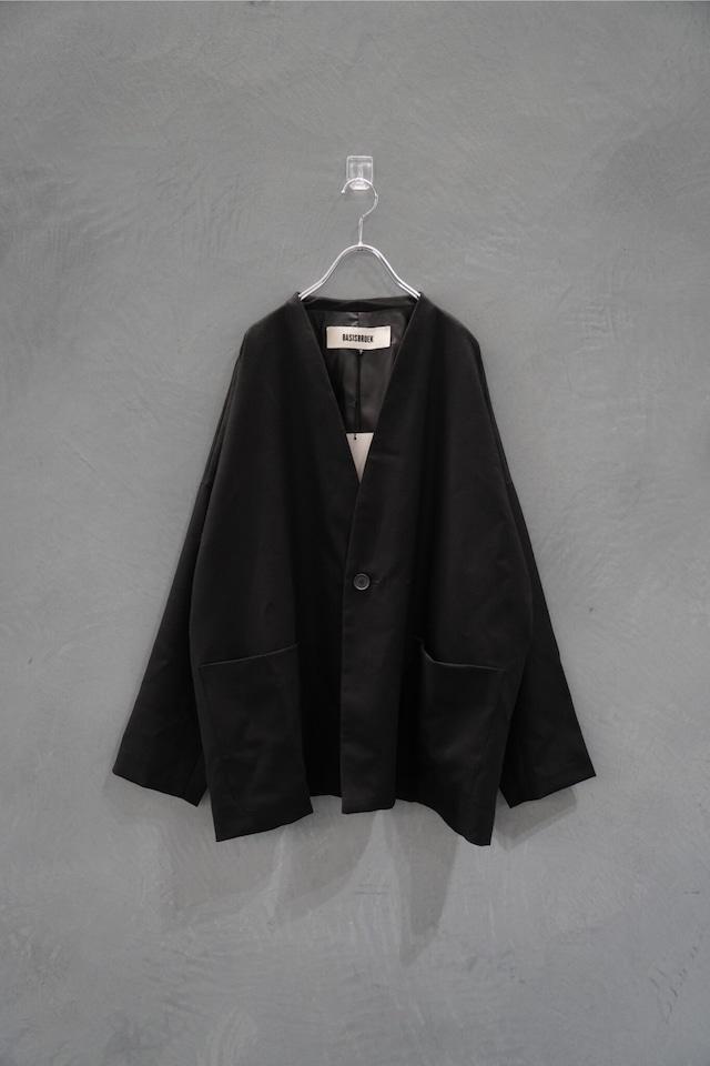 "BASIS BROEK  WOOL SAXONY  tailor jk   Black "" LUCHI"""
