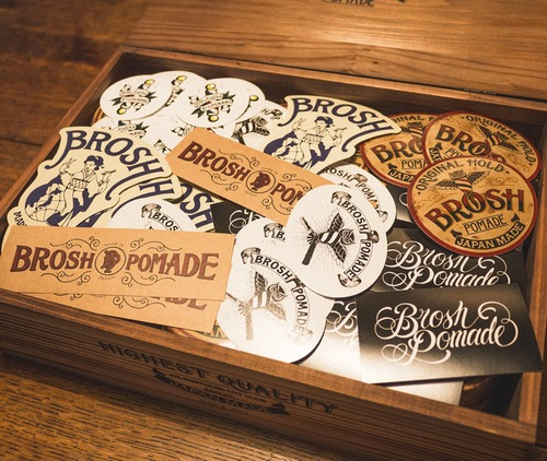 BROSH ブロッシュ ベーシックステッカーセット 6枚組