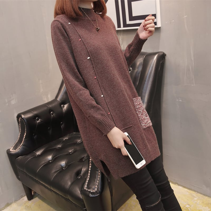 【XL-3XL】プルオーバーニットセーター