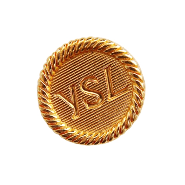 【LAST ONE SALE】ゴールドロゴ ボタン 27mm Y-20007
