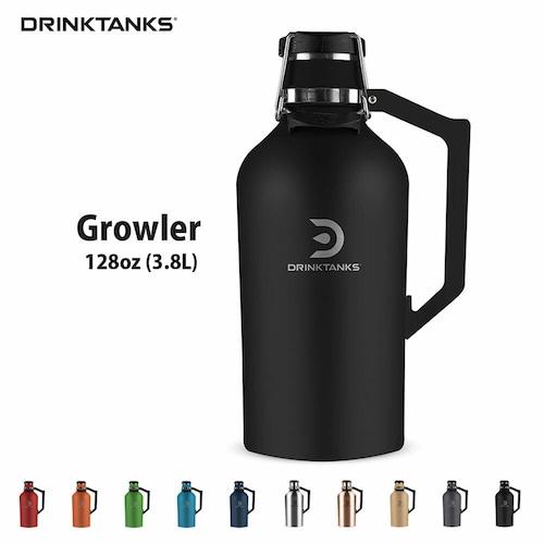 【New models】 DrinkTanks(ドリンクタンクス) 128oz (3.8L) Growler G-20-128 ドリンクタンク グラウラー クラフト ビール 炭酸 OK 保冷缶 アウトドア キャンプ ◆送料無料◆