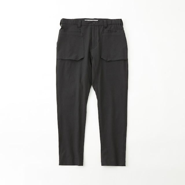 STRETCHED TWILLED DOUBLE POCKET PANTS - CHARCOAL
