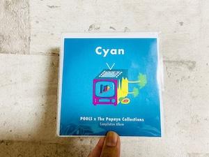 POOLS / The Papaya Collections   スプリットCD「Cyan」