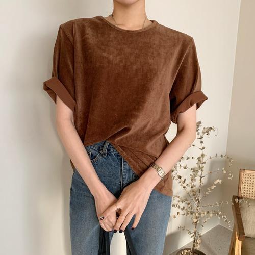 【即納・送料無料】コーデュロイ Tシャツ T157