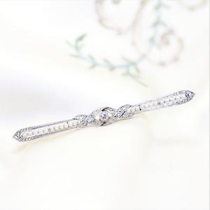 Diamond & Pearl Bar brooch circa 1910 ダイヤモンド & パール バーブローチ