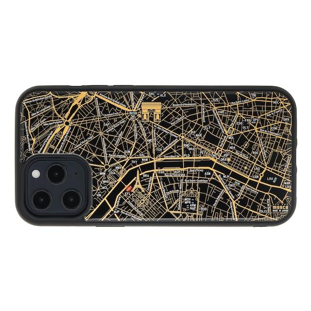 FLASH Paris回路地図 iPhone 12 Pro Maxケース  黒【東京回路線図A5クリアファイルをプレゼント】