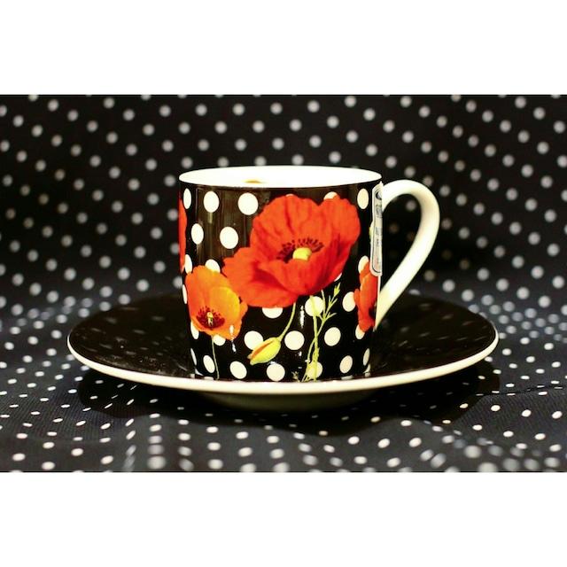 ドット赤い花<エスプレッソカップ>KONITZ  浜松雑貨屋C0pernicus(電子レンジ、食器洗浄機にも対応)