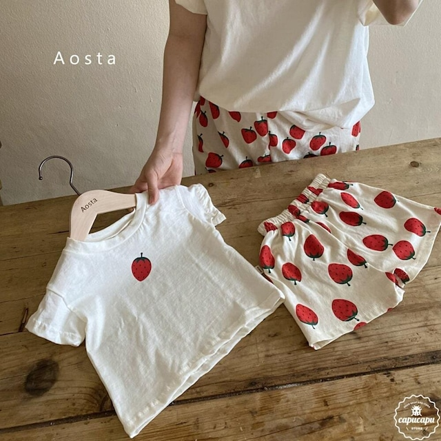 «sold out» Aosta starwberry pants いちごパンツ
