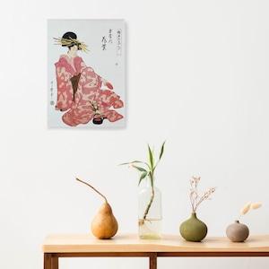 素敵なアートパネル A4サイズ 玉屋内 花紫 喜多川歌麿